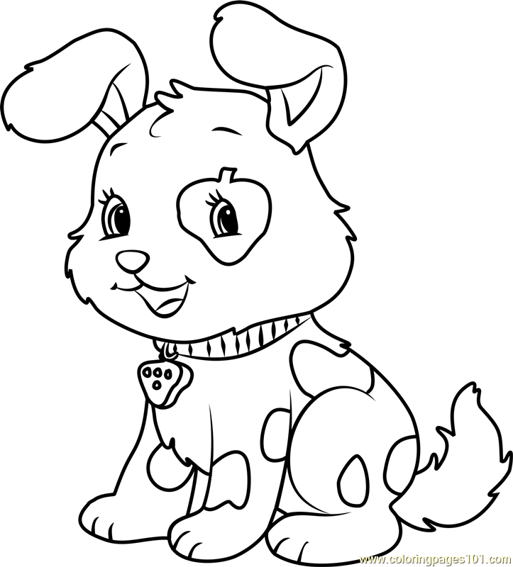 723x800 Cute Pupcake Coloring Page