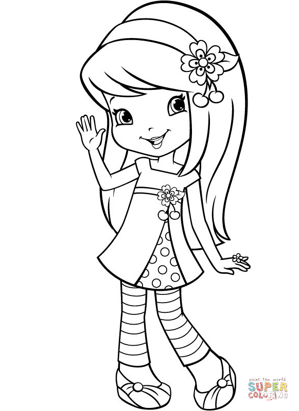 581x800 Strawberry Shortcake Cherry Jam For Coloring Pages