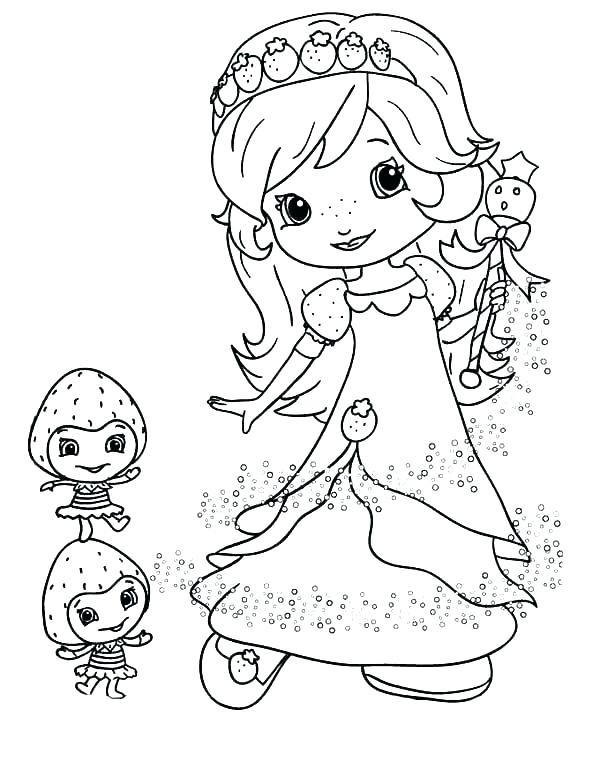 600x776 Strawberry Shortcake Coloring Pages To Print Strawberry Shortcake