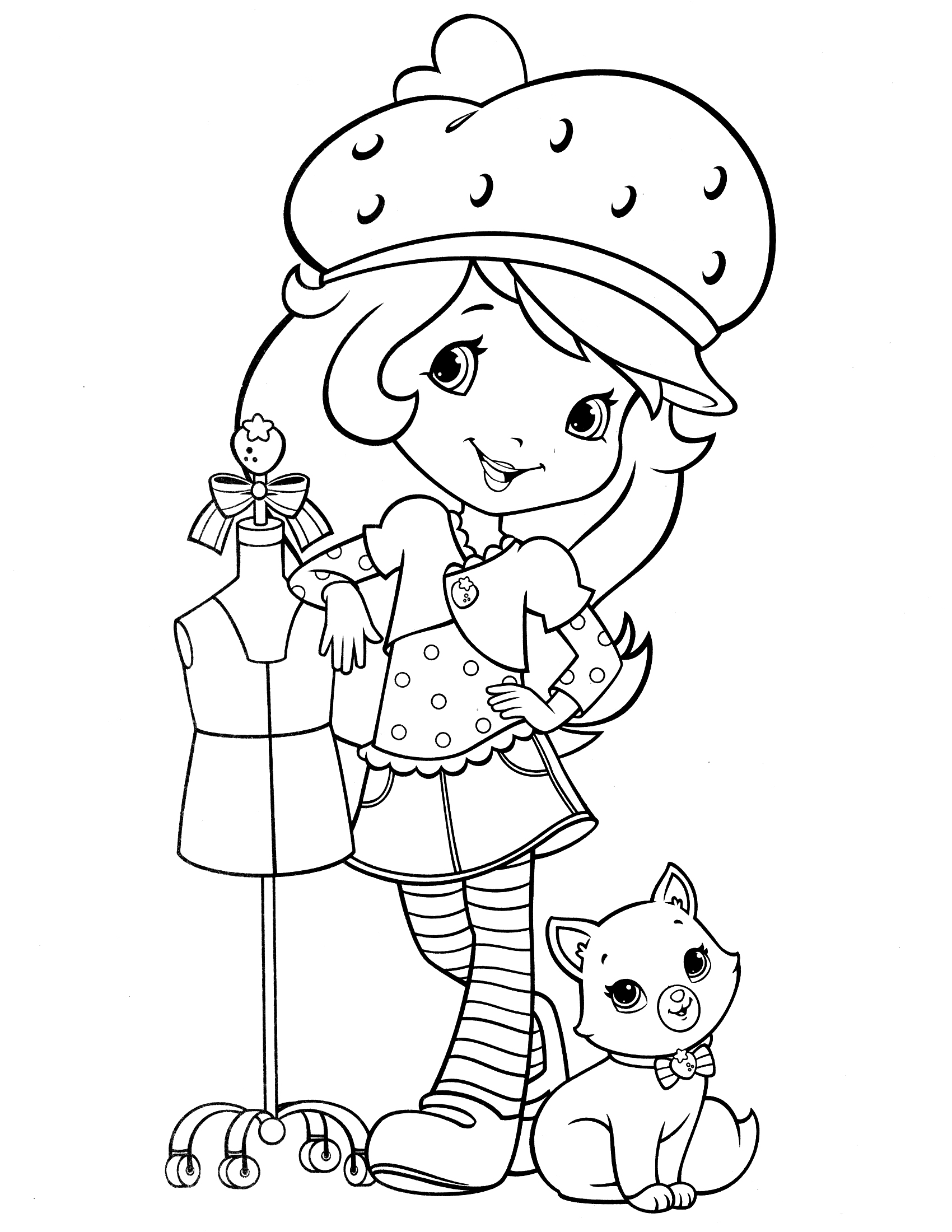 Strawberry Shortcake Dog Coloring Pages