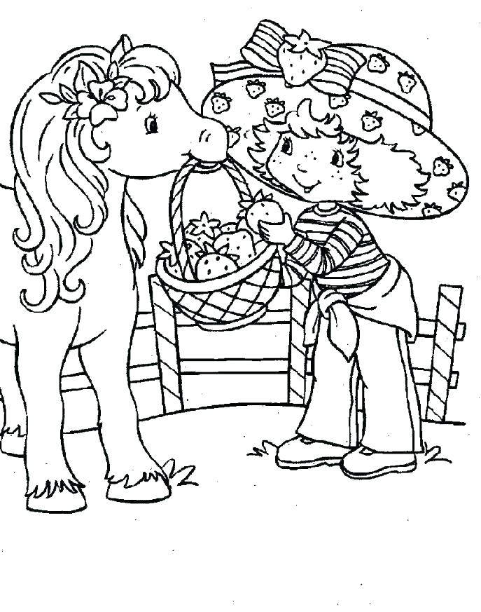 687x873 Coloring Strawberry Shortcake Strawberry Shortcake Coloring Pages