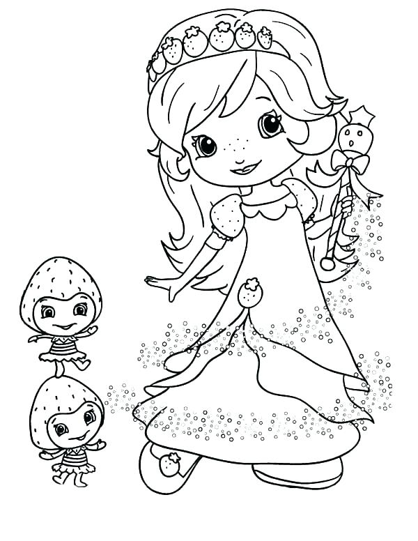 600x776 Strawberry Shortcake Coloring Pages Strawberry Shortcake