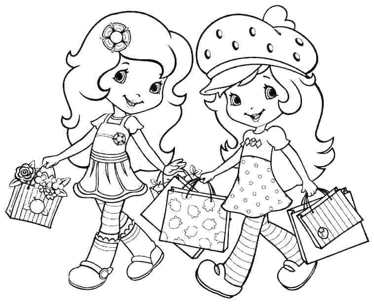 758x616 Strawberry Shortcake Color Pages Strawberry Shortcake And Friends