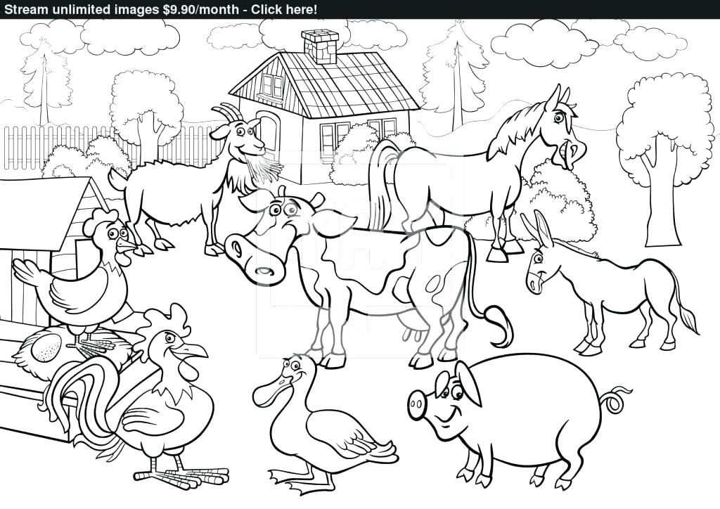1024x724 Farm Coloring Page Farm Animals Coloring Book And Printable Farm