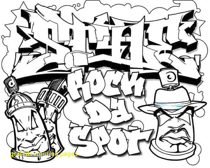 840x672 Graffiti Coloring Pages With Graffiti And Street Art Coloring