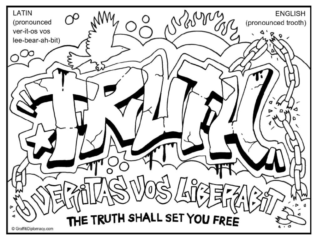 1014x768 Multicultural Graffiti Free Coloring Pages