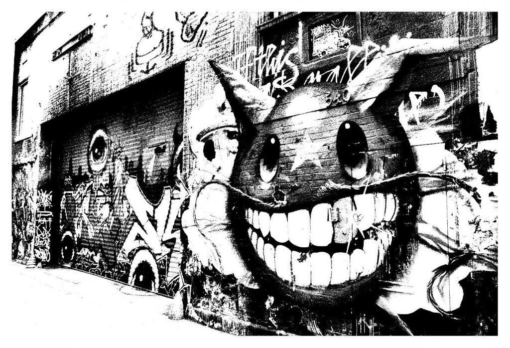 1024x698 Coloringes Graffiti Image Hd And Street Art For Adults Alley Hard