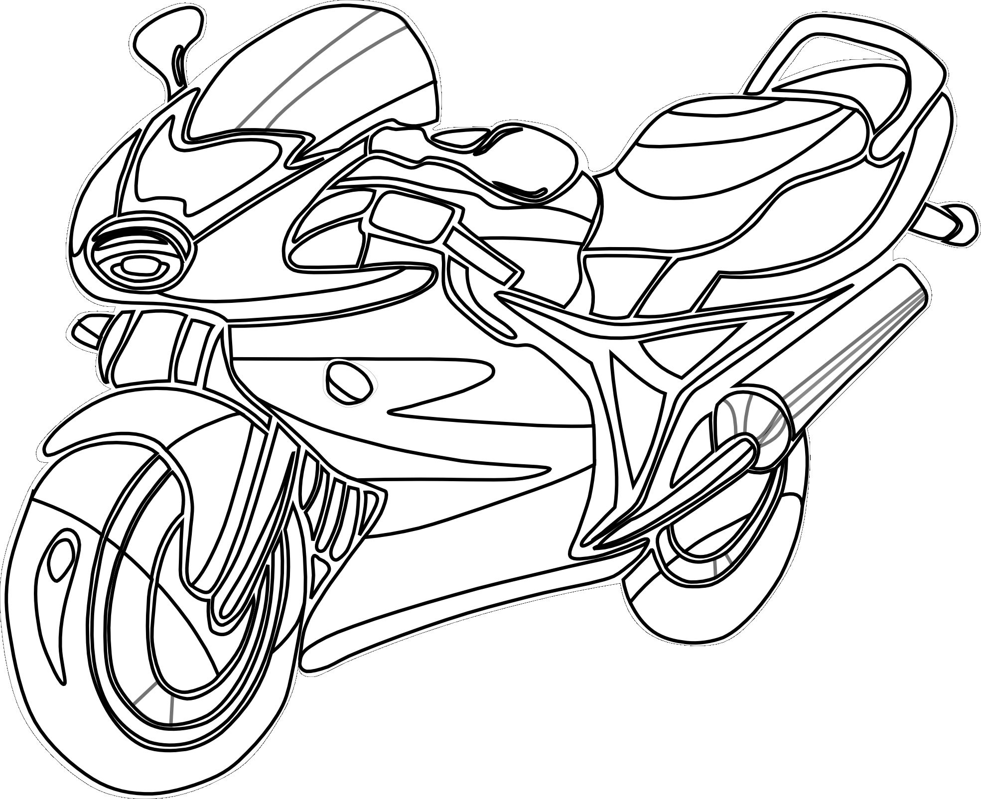 Street Bike Coloring Pages