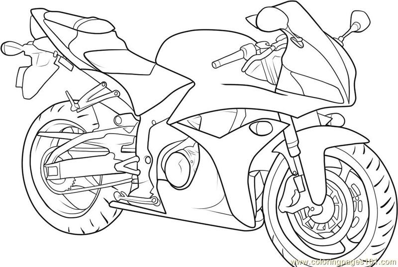 800x537 Motorbike Coloring Page