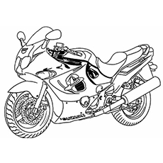 230x230 Motorcycle Coloring Pages