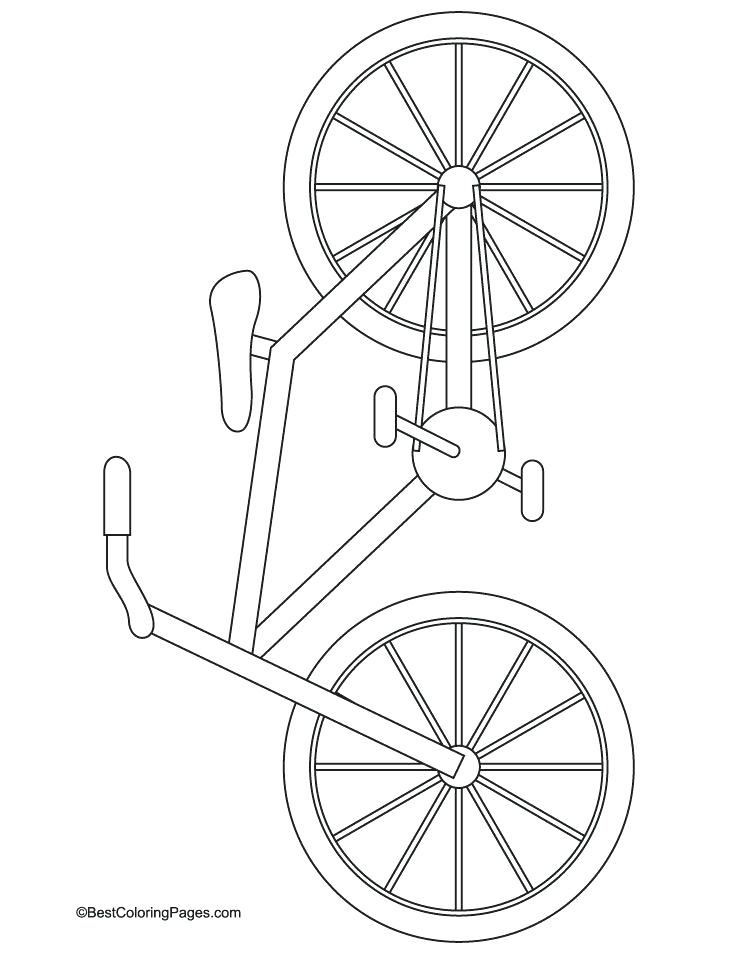 738x954 Bicycle Coloring Page