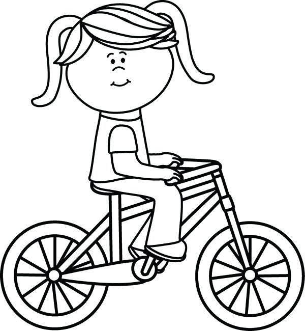 600x650 Bicycle Coloring Pages For Girls Printable Coloring Pages For Free