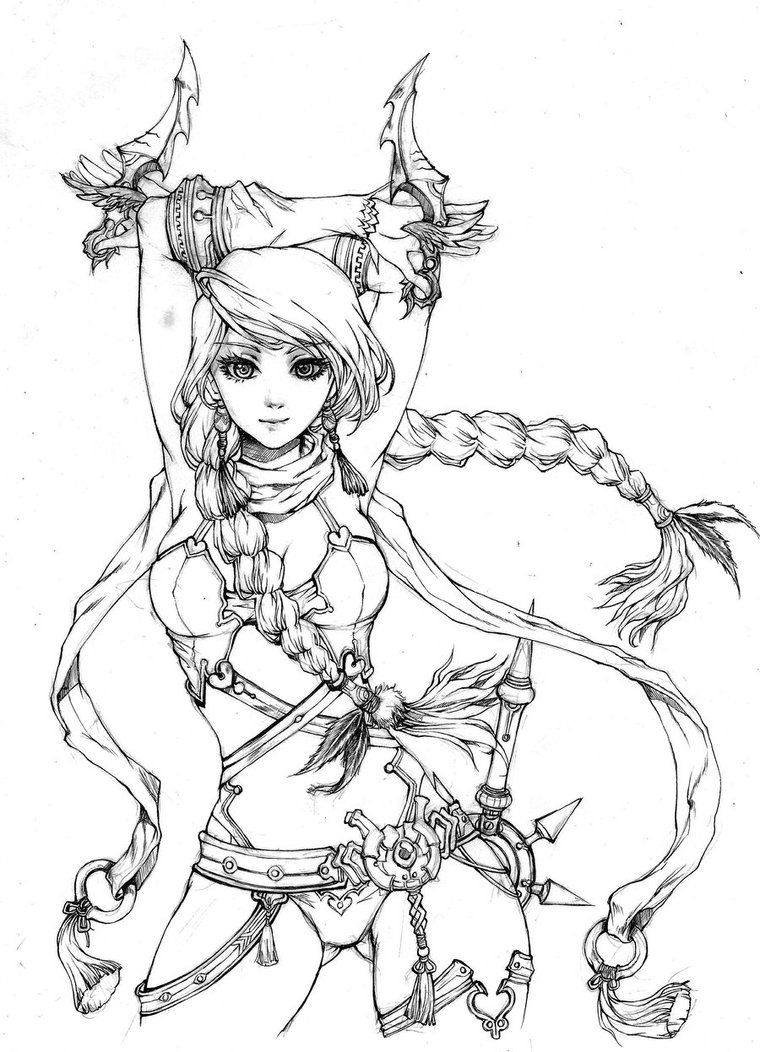 760x1052 Commisison For This Is The Lineart Version, Not The Finshed One