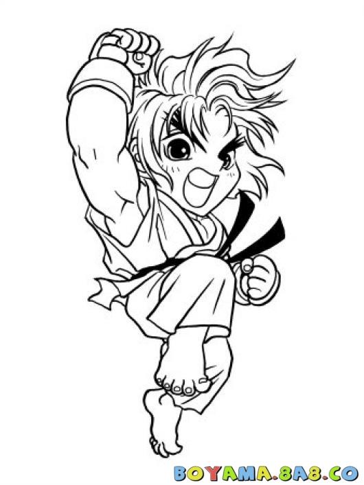 530x707 Ken Street Fighter Boyama Sayfa Coloring Pages Boyama Street