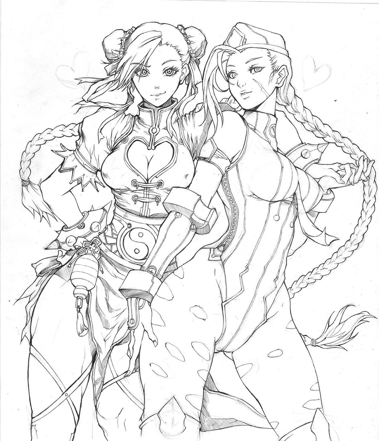 1280x1489 Coloring Pages Street Fighter