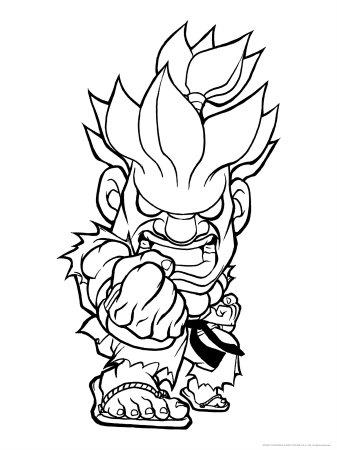 337x450 Cartoon Streer Fighter Man