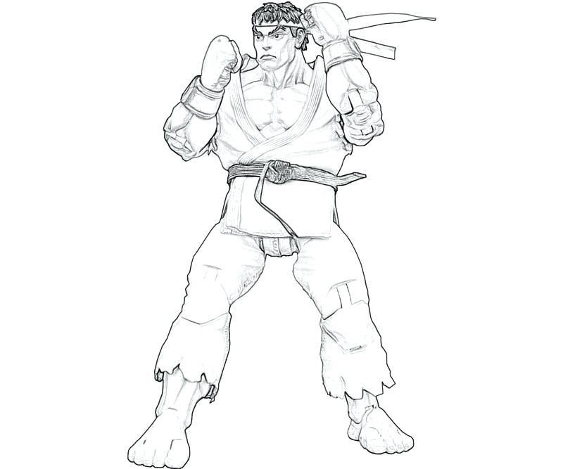 800x667 Ryu Coloring Pages Street Fighter Coloring Page Coloring Pages