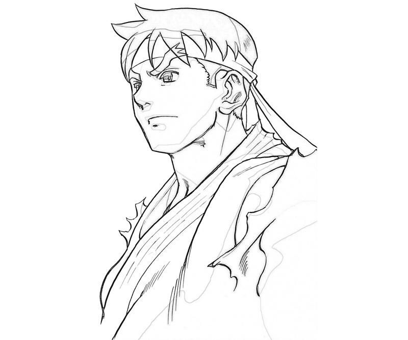 800x667 Ryu Street Fighter Coloring Pa