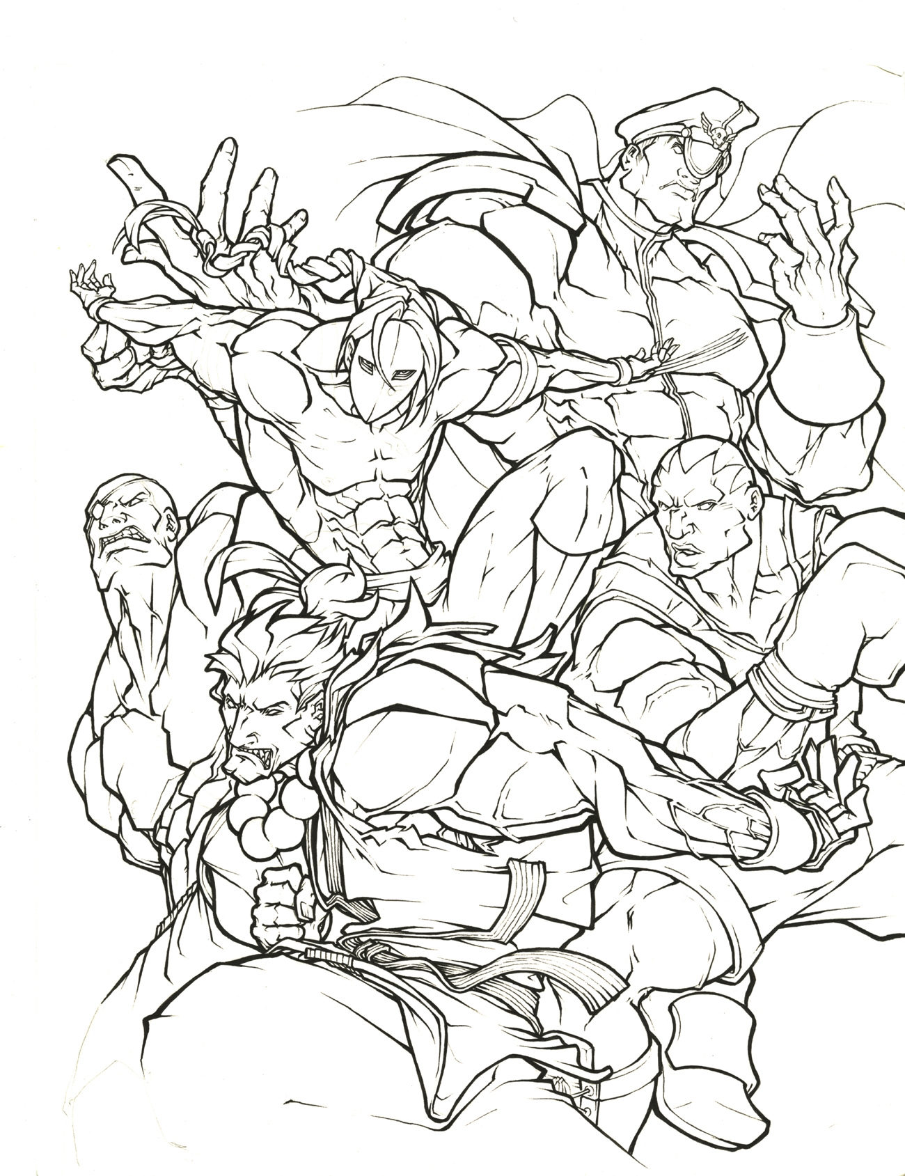 1300x1689 Awesome Street Fighter Coloring Pages Gallery Free Ripping