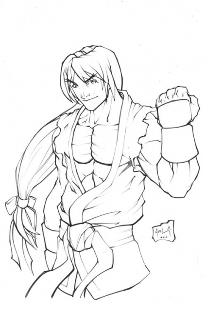 422x653 Coloring Pages Street Fighter Color Bros