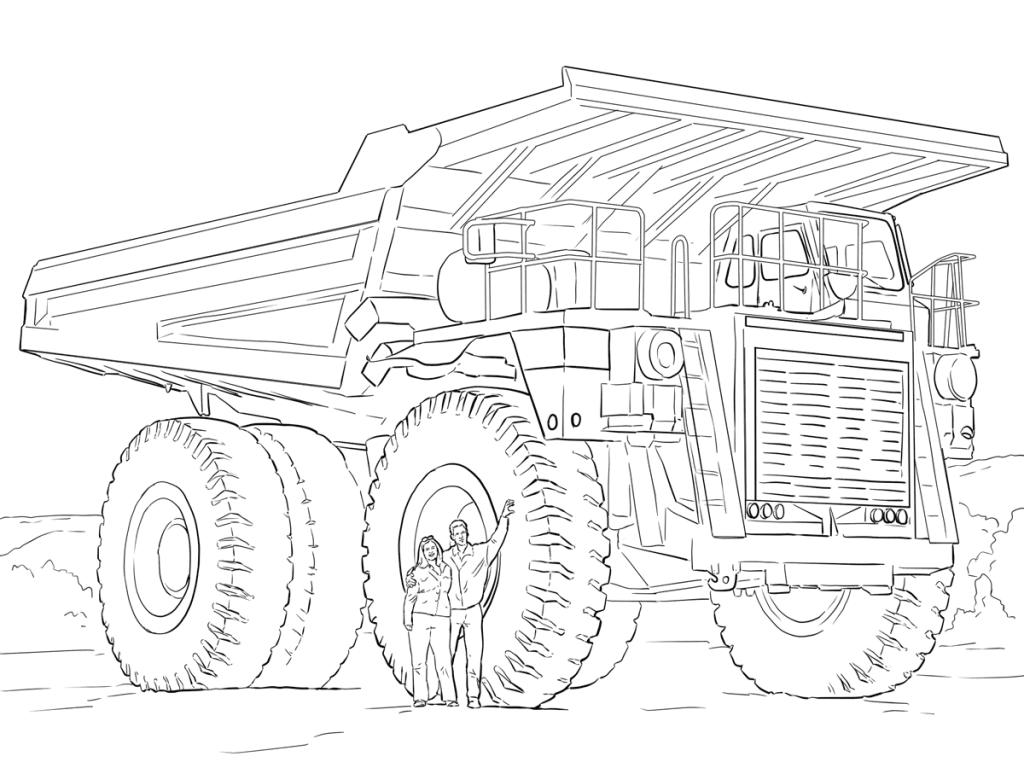 Street Sweeper Coloring Page at GetDrawings | Free download