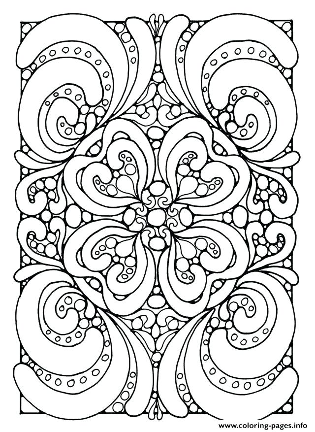 640x877 Good Anti Stress Coloring Pages Printable For Adult Zen Anti