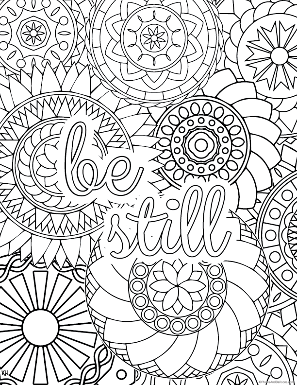 612x792 Stress Relief Coloring Pages To Help You Find Your Zen Again