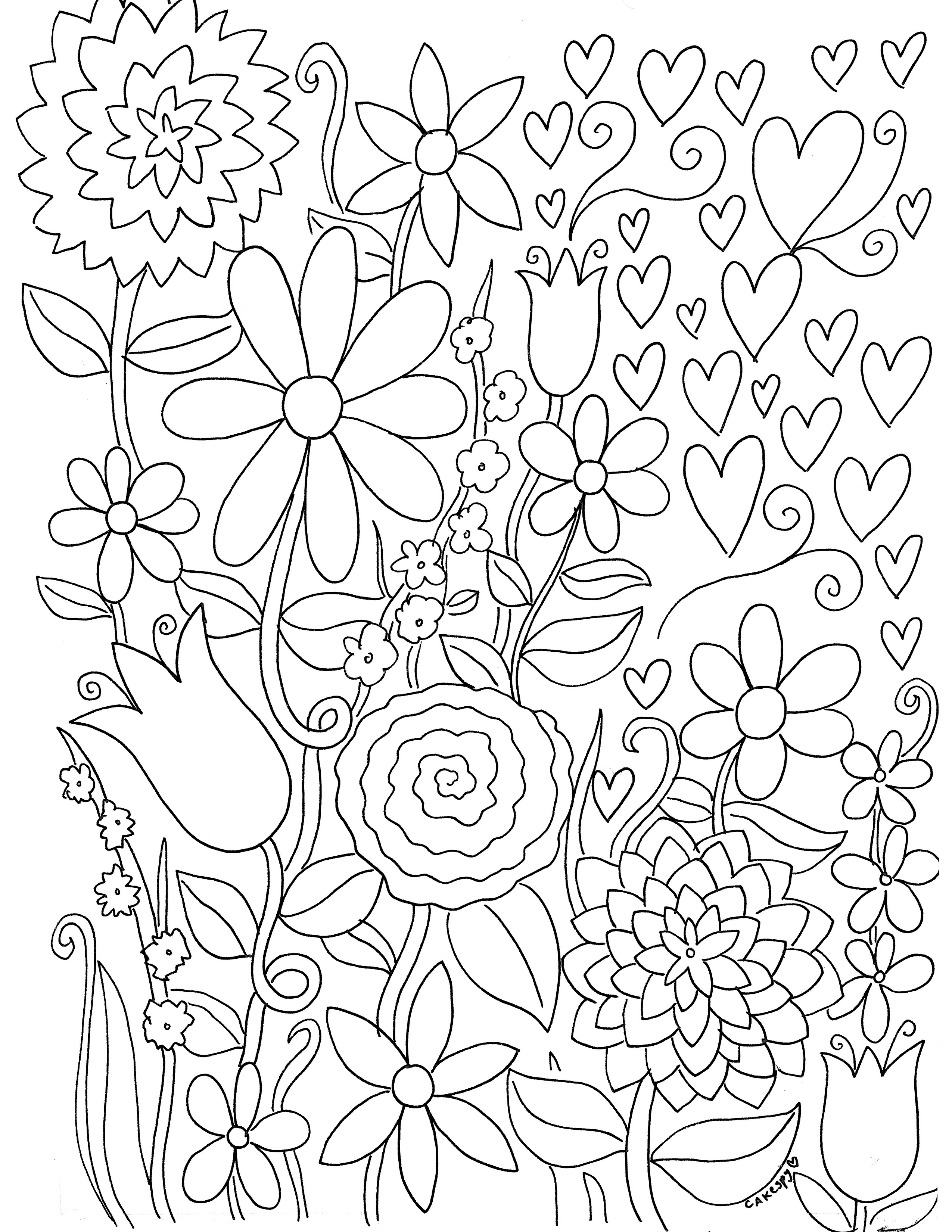 2550x3300 Stress Relief Coloring Book Pages For Grown Ups