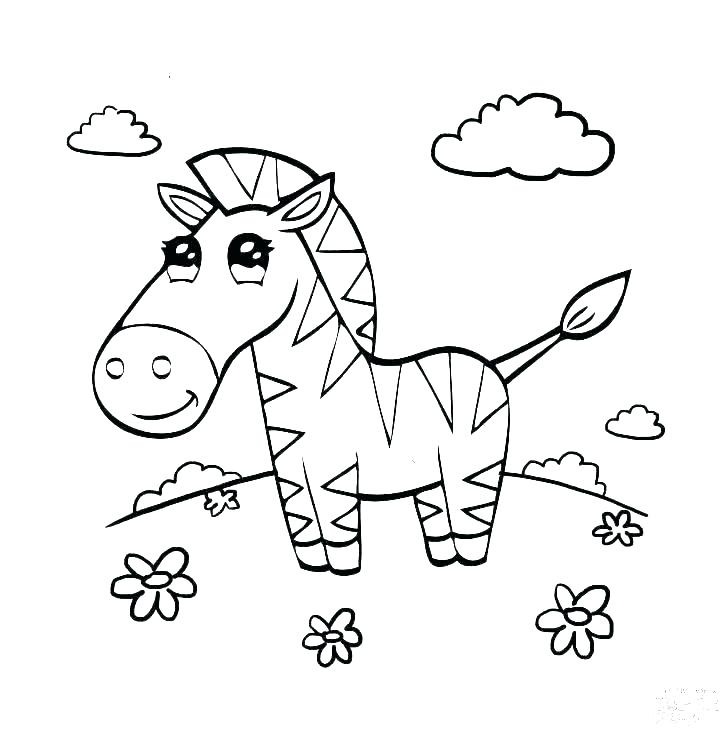 728x734 Zebra Coloring Page Zebra Coloring Page Zebra Coloring Pages