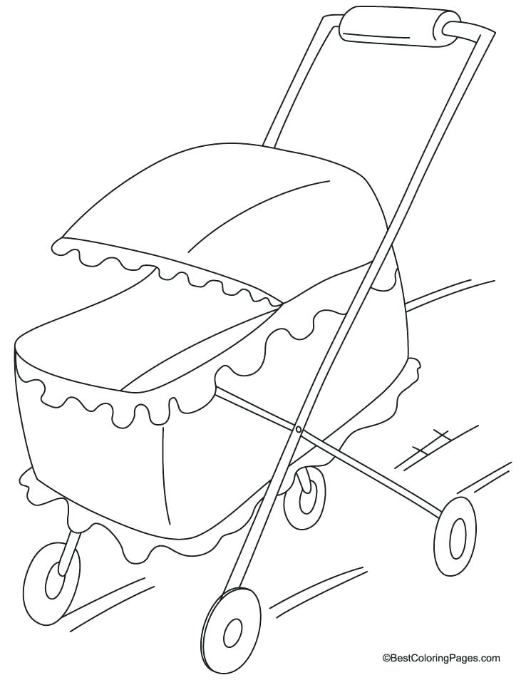 Stroller Coloring Pages At Getdrawings Com Free For Personal Use