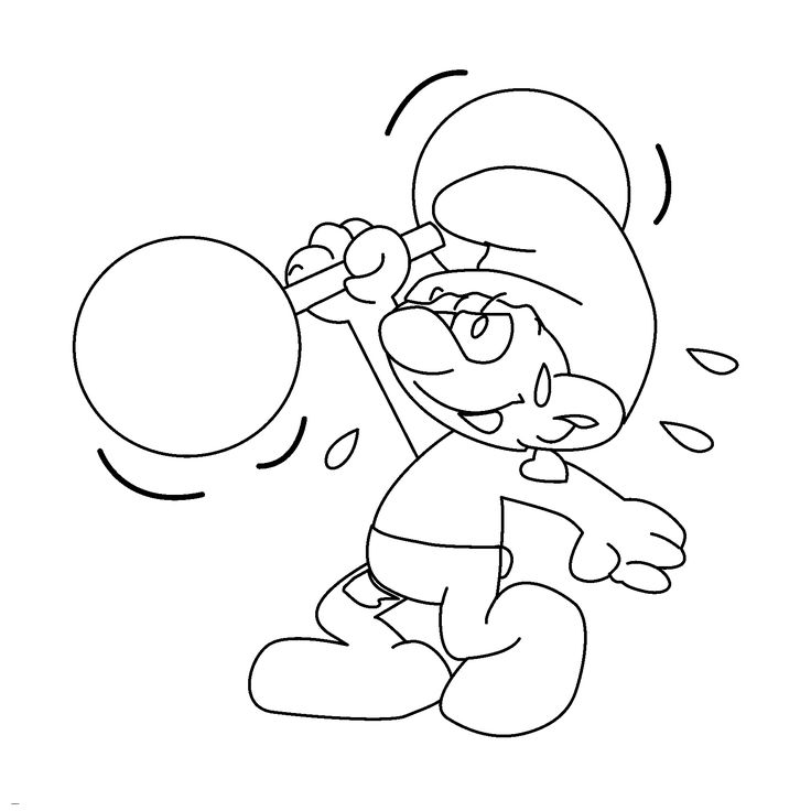 736x736 Best Smurfs Coloring Pages Images On The Smurfs