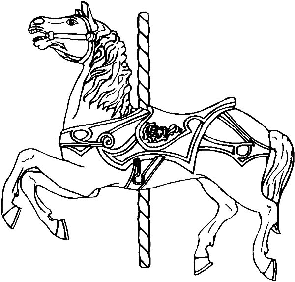 600x573 Strong Carousel Horse Coloring Pages Best Place To Color