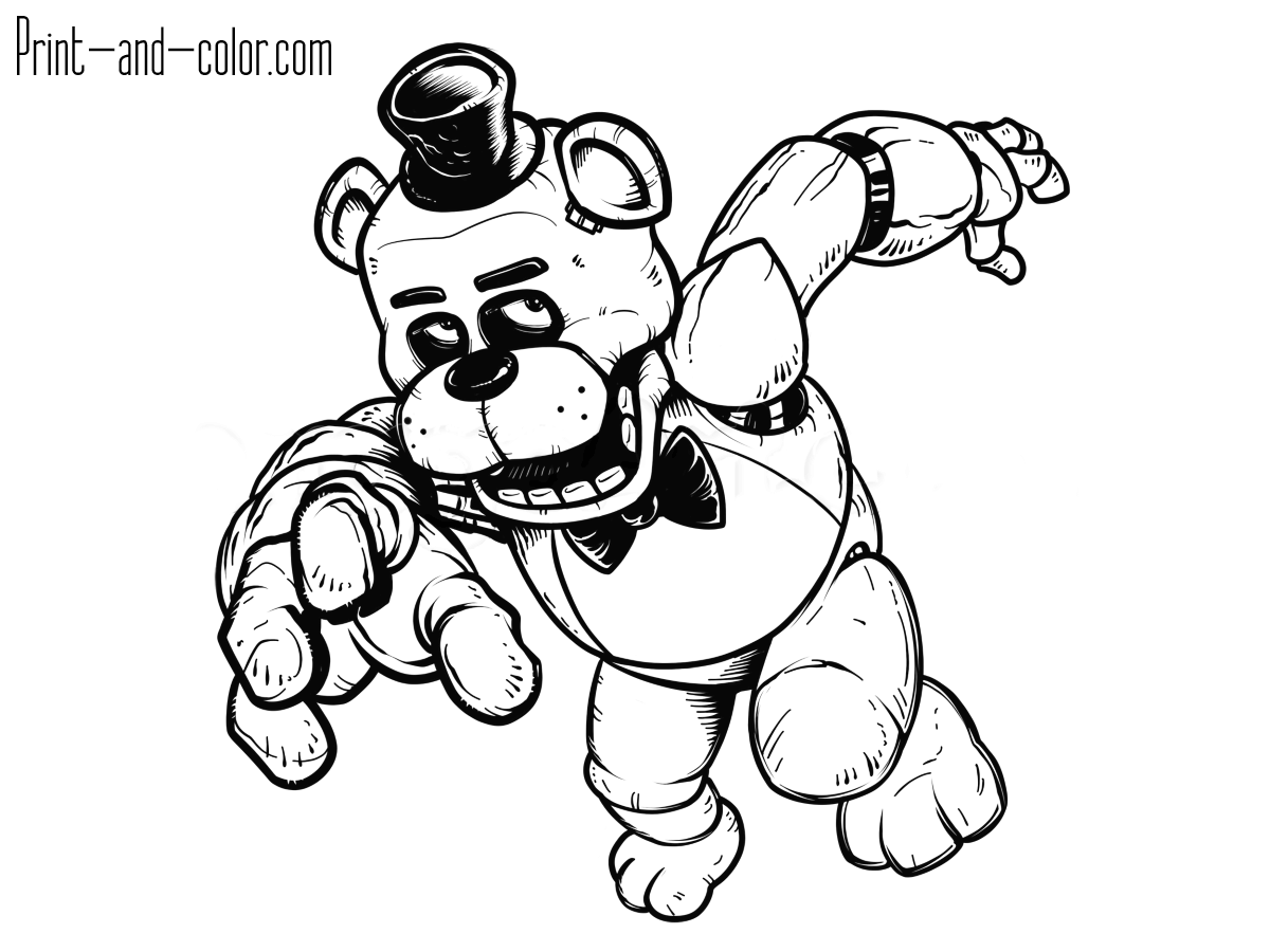 1200x900 Strong Coloring Pages For Five Nights At Fredd
