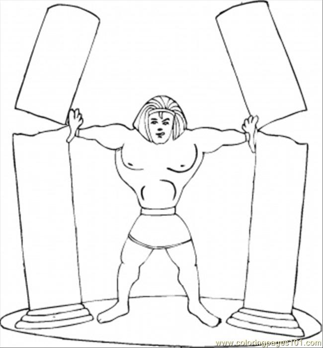 650x700 Strong Samson Coloring Page