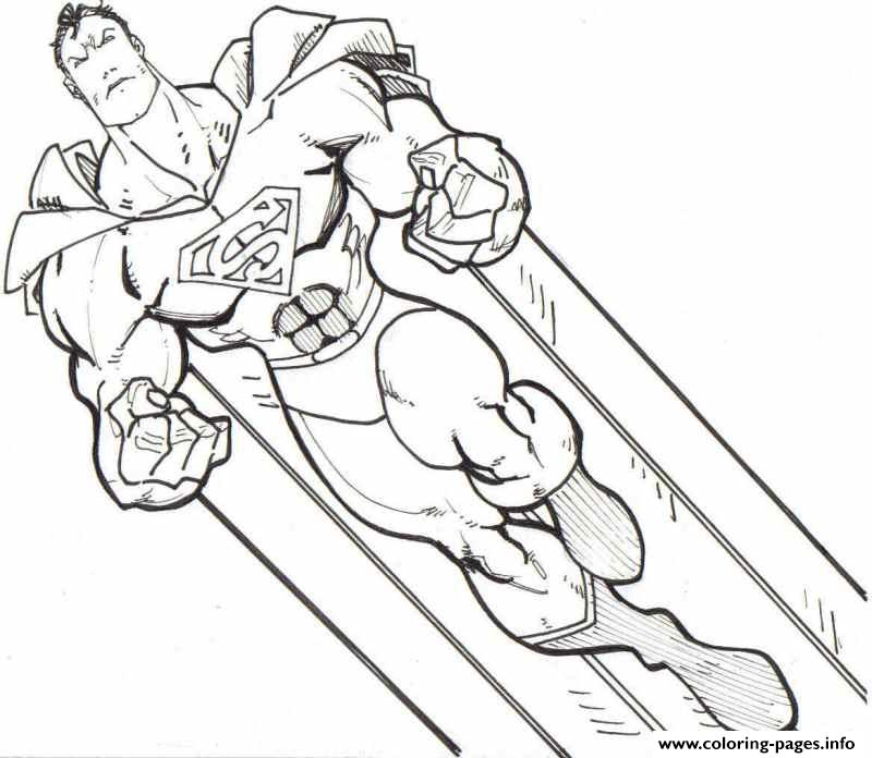 800x696 Super Strong Superman Spectacular Superman Coloring Pages