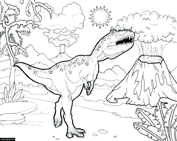 618x494 Trex Coloring Page Coloring Pages T Is Very Strong Coloring Page