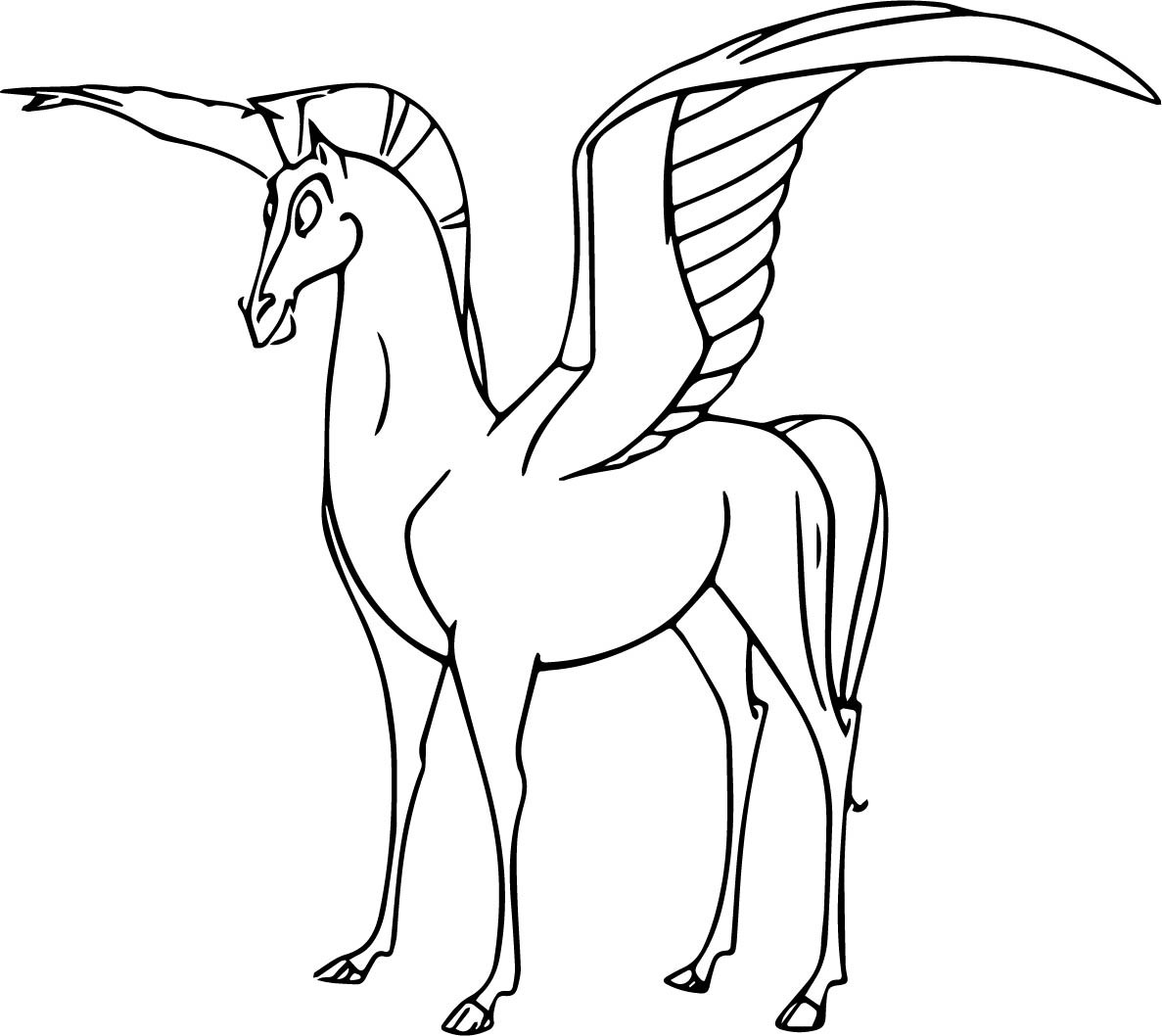 1187x1058 Strong Pegasus Coloring Pages Cute Zebra New Pegasus Coloring