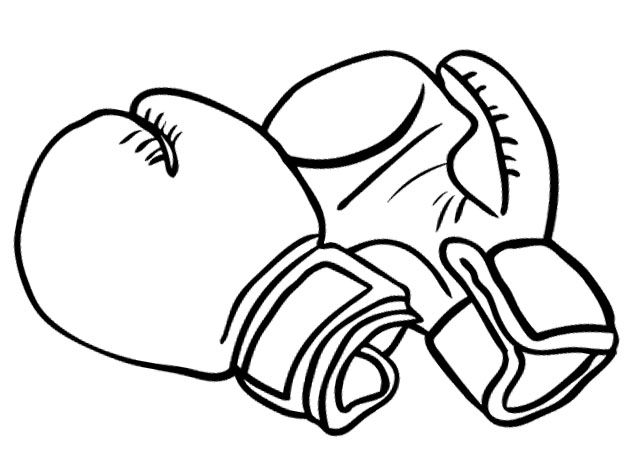 630x461 Boxing Gloves For Strong Coloring Pages Coloring Pages