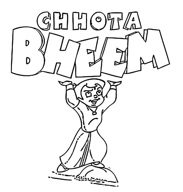 600x632 Chota Bheem Strong Boy Coloring Pages