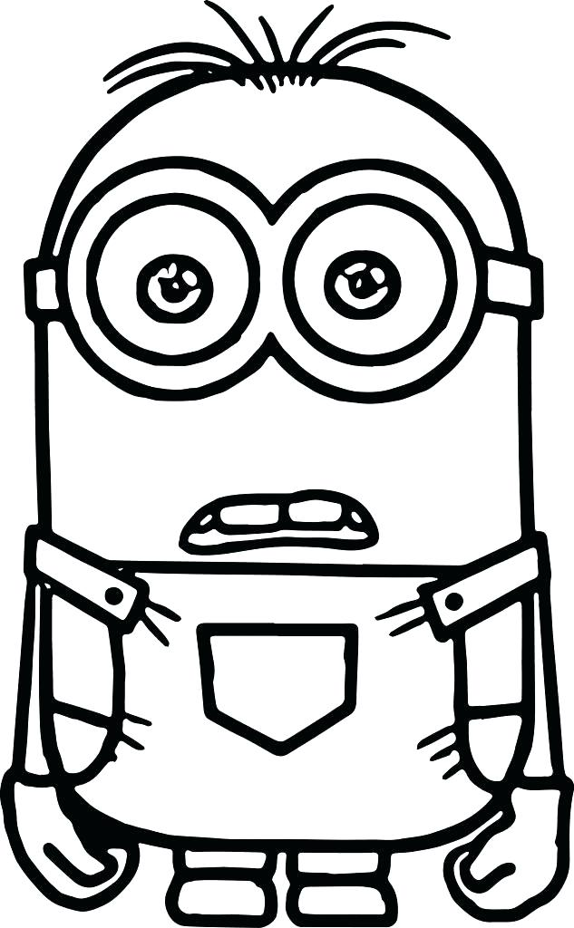 633x1024 Minion Coloring Pages Two Eyed Minion Coloring Page Minion