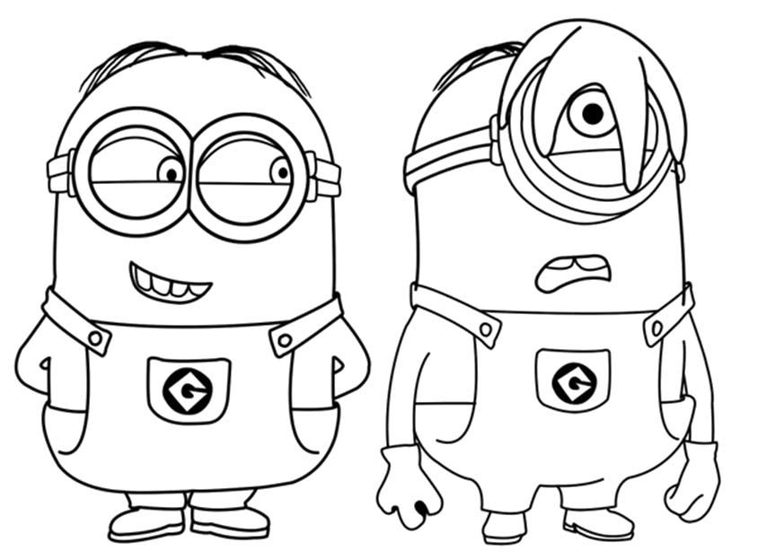 873x623 Despicable Me Tim Stuart And Jerry Coloring For Kids, Tim Boy