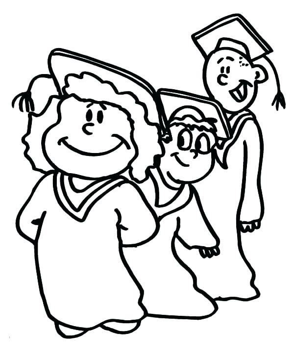 600x728 Graduation Coloring Pages Blues Graduation Coloring Pages