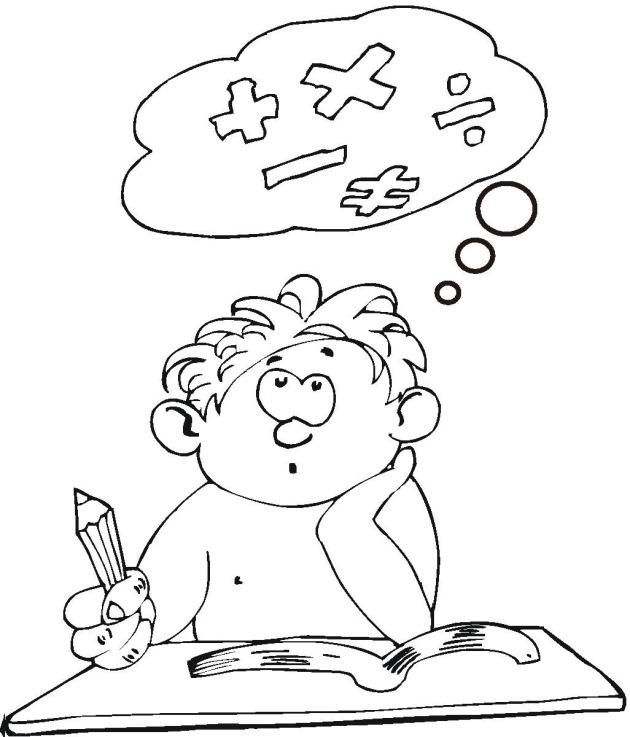 630x737 Student Coloring Page, Student Coloring Pages