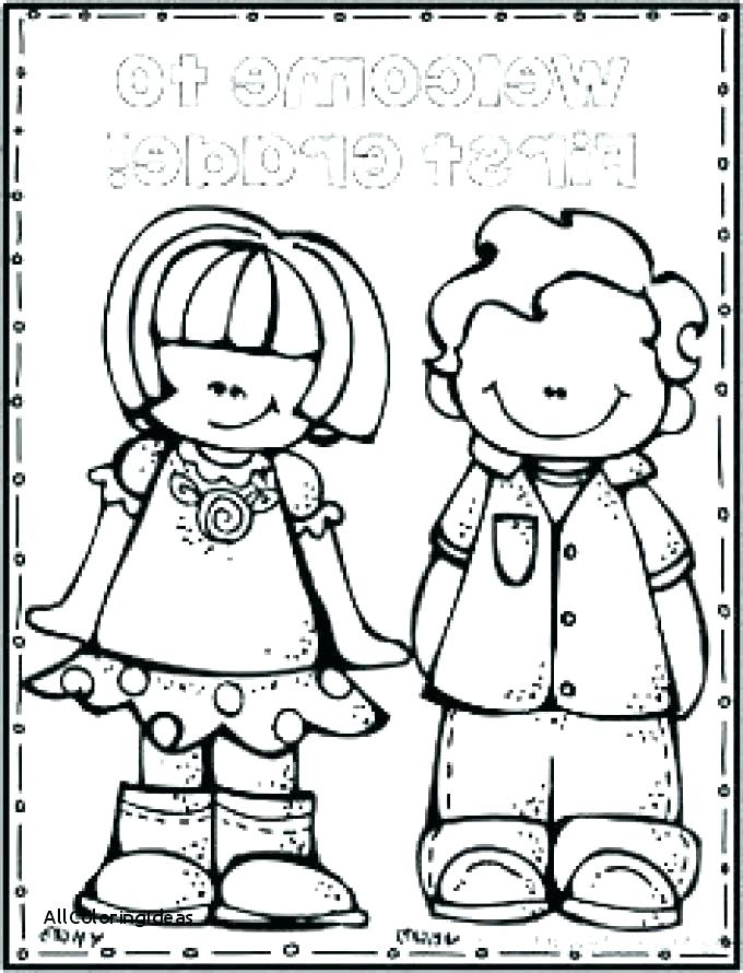 680x890 Welcome Back To School Coloring Pages Boy Student In School