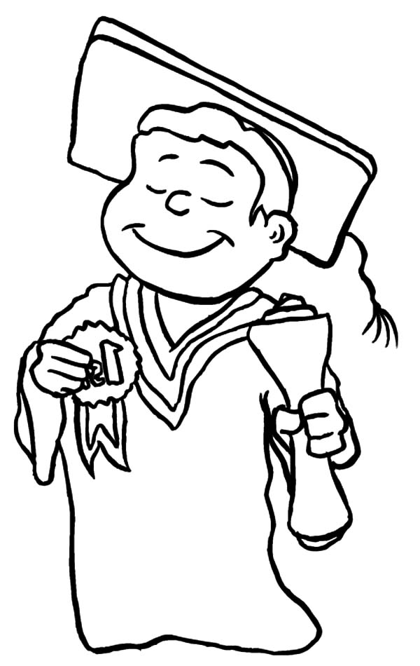 600x950 Best Student On Graduation Day Coloring Pages Color Luna