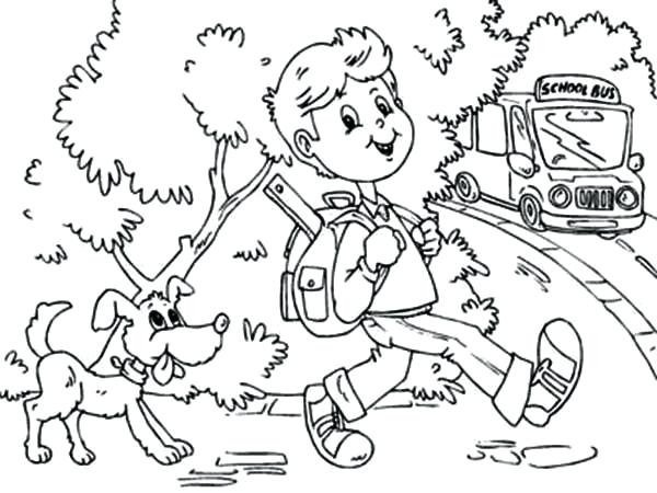 600x450 Coloring Pages School Its Time To Go Back School Say The Boy