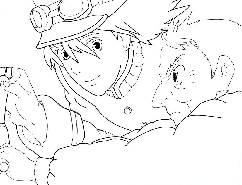 826x633 Howl's Moving Castle Coloring Page Coloring Pages For Kids