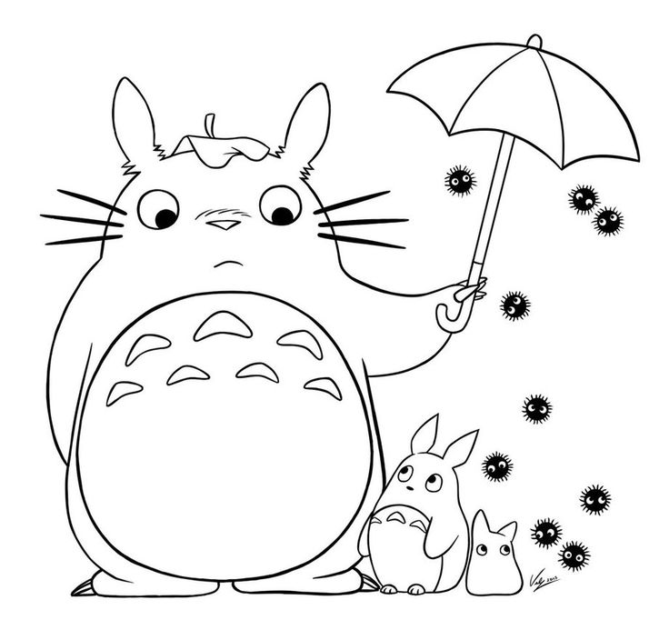 736x693 Best Studio Ghibli Coloring Pages Images On Inside
