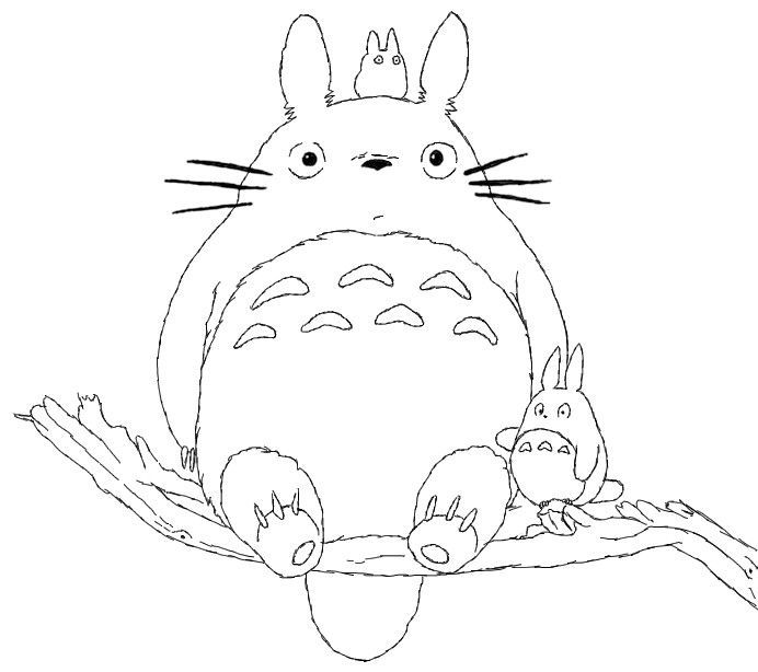 692x614 Studio Ghibli Coloring Pages