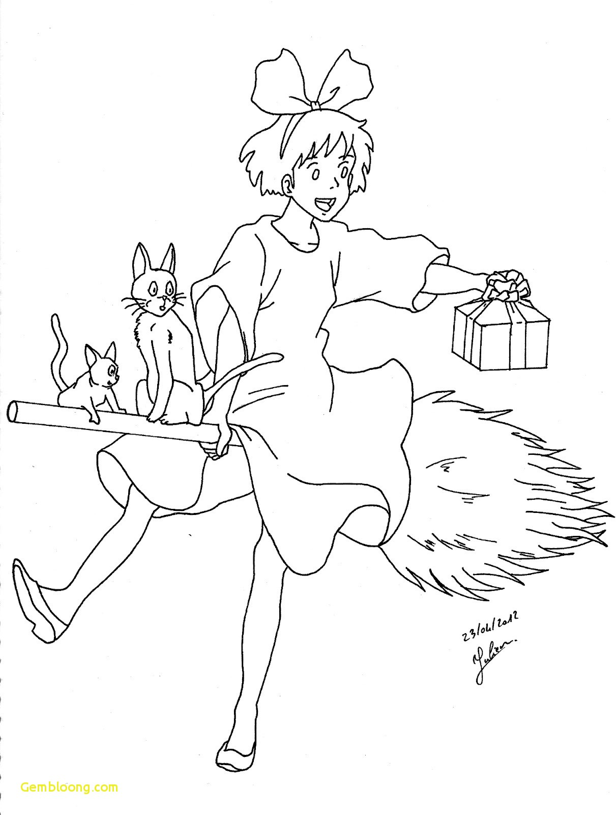 1211x1600 Studio Ghibli Coloring Pages